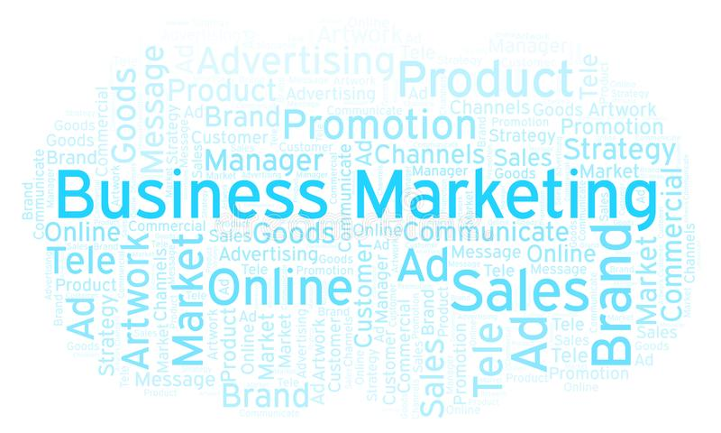 Word cloud with text Business Marketing. stock image