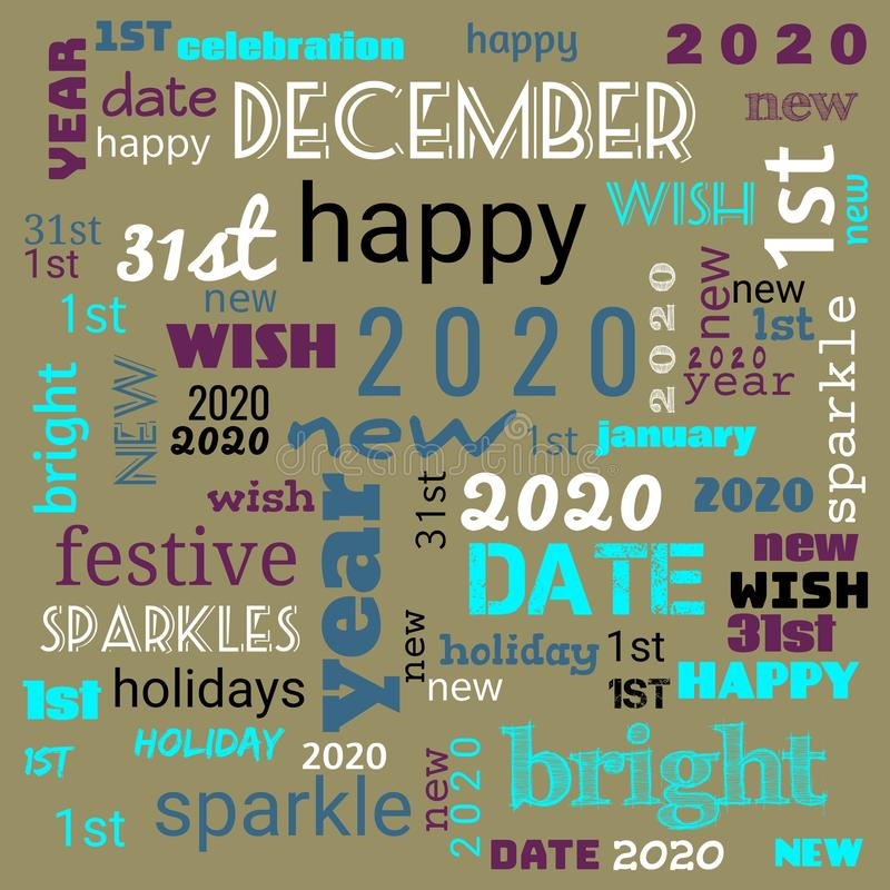 2020 word cloud,2020 text,latter, happy new year 2020 word cloud, word cloud use for banner, painting, motivation, web-page, vector illustration