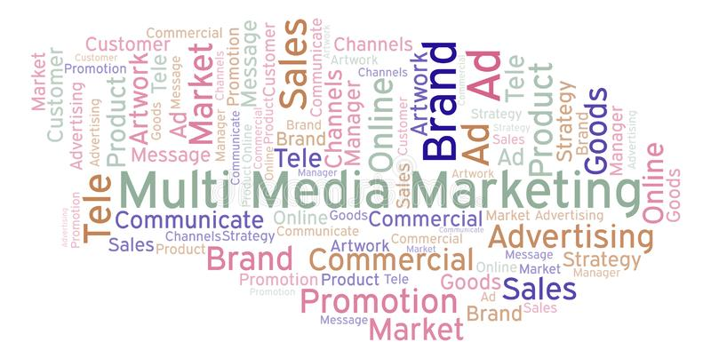 Word cloud with text Multi Media Marketing. vector illustration
