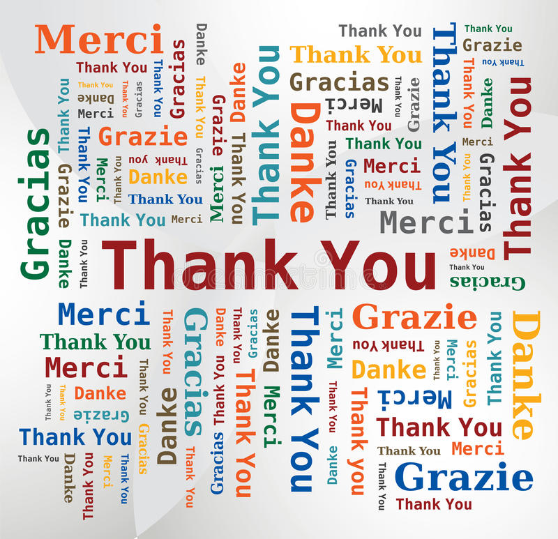 Download Word Cloud  - Thank You In 5 Languages Stock Images - Image: 21633354