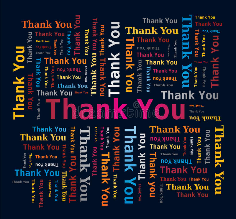Free Word Cloud - Thank You - Multicolored Letters Royalty Free Stock Image - 21051236