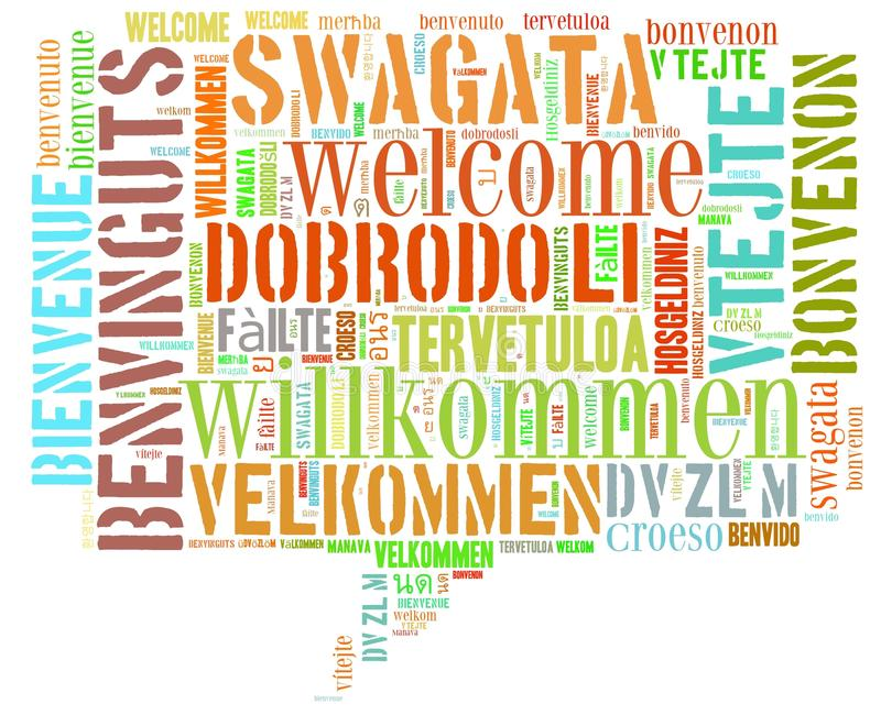 Word Cloud Welcome stock illustration