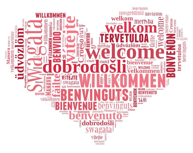 Word Cloud Welcome royalty free illustration