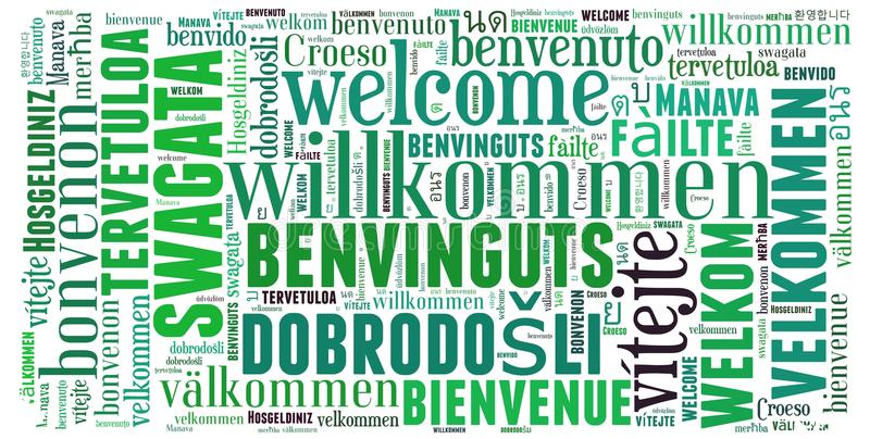 Word cloud Welcome vector illustration