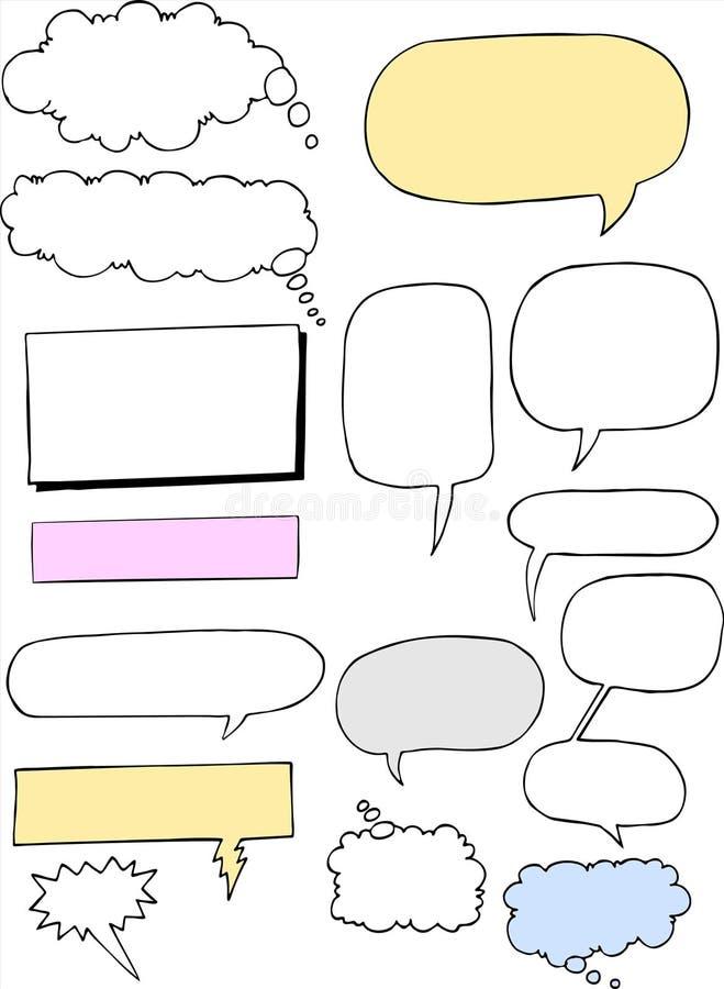 Word-Clouds01 ilustração royalty free