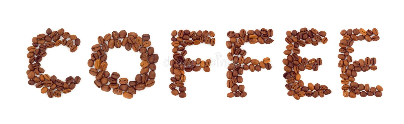 Word Coffee stock photography