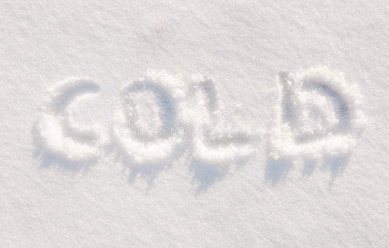 Download Word cold written in snow stock image. Image of season - 23030301