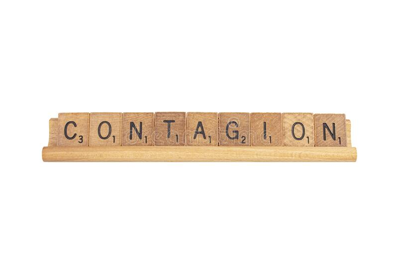 Contagion In Wooden Tiles, Isolated stock photo
