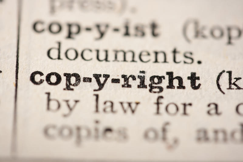 Word copyright royalty free stock photography