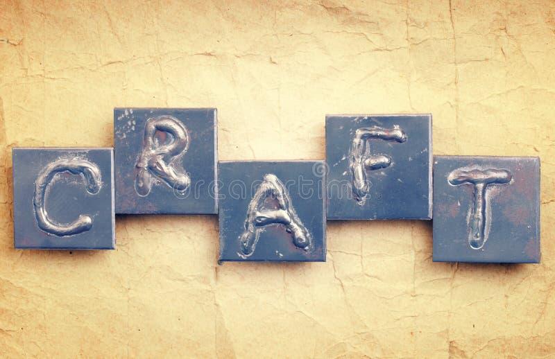 Download The word CRAFT stock photo. Image of retro, metal, handicraft - 34415220
