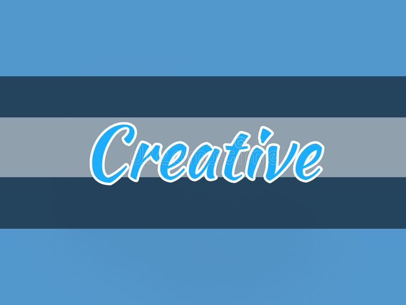The word creative in beautiful blue background. Word creative beautiful blue background text font english royalty free illustration