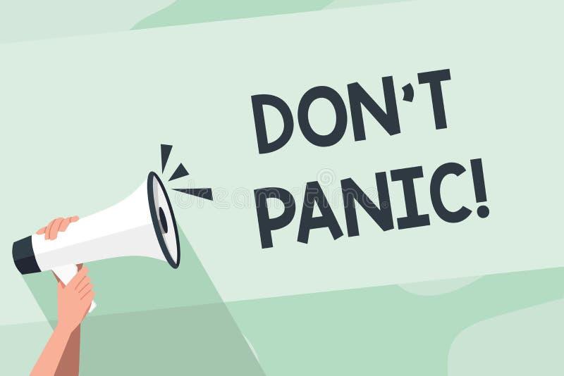 Word ?crivant la panique de Don T des textes Le concept d'affaires pour soudainement se sentent ainsi inqui?t? ou effray? que vou illustration libre de droits