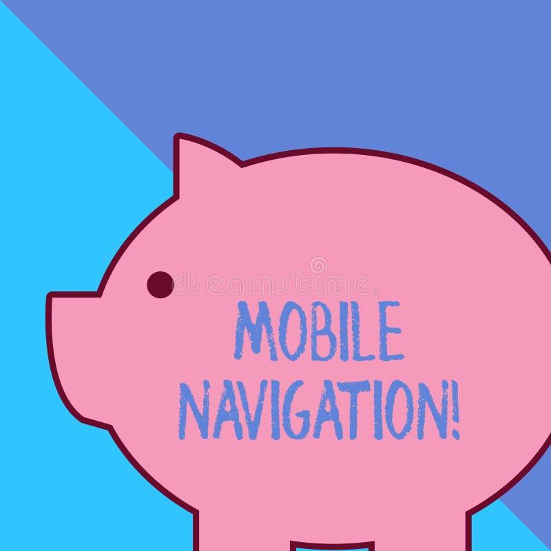 Word ?crivant ? texte la navigation mobile Concept d'affaires pour l'interface utilisateur graphique employ?e pour faciliter le c illustration de vecteur