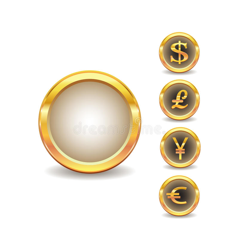 Download Word currency stock vector. Image of glossy, illustration - 13146850