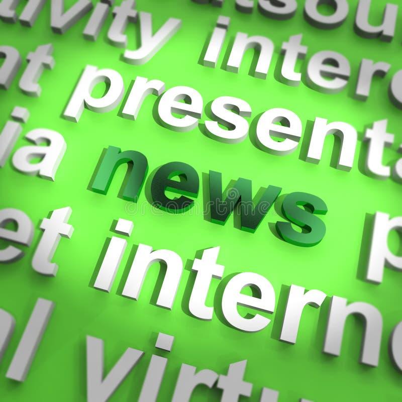 Word dat van het nieuws de Journalistiek en de Informatie van Media toont vector illustratie