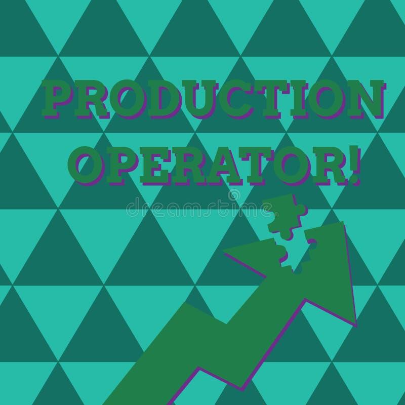 Word de schrijvende Exploitant van de tekstproductie Bedrijfsconcept voor controlemateriaal dat in het analysisufacturing proces  vector illustratie