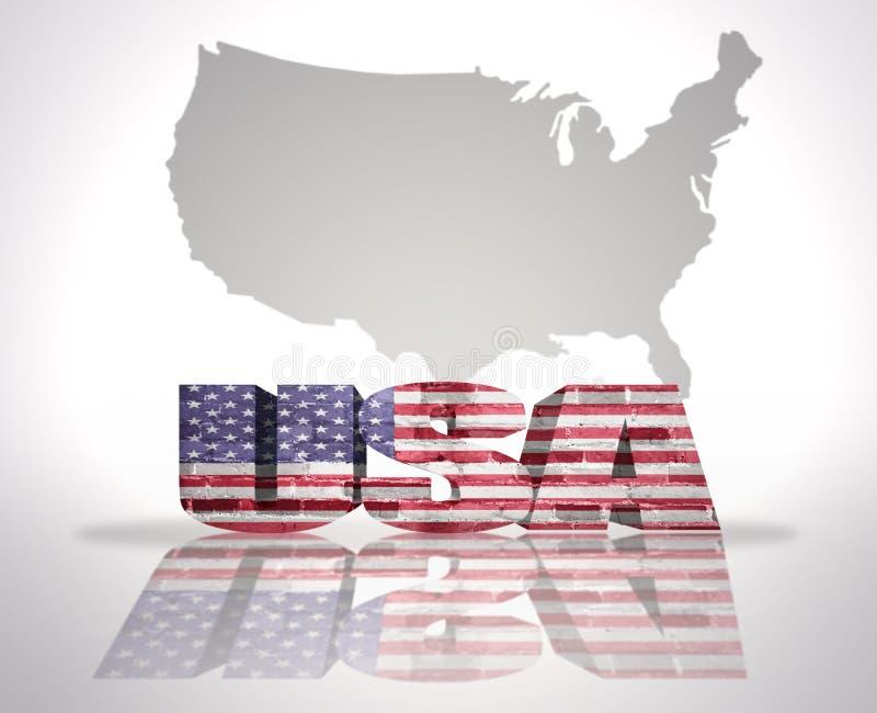 Word de V.S. op een kaartachtergrond royalty-vrije illustratie