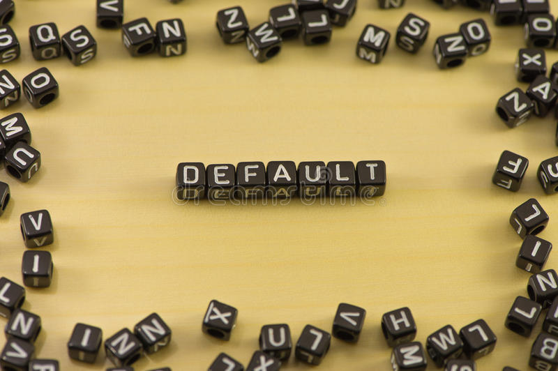 The word default. On wood background royalty free stock photos