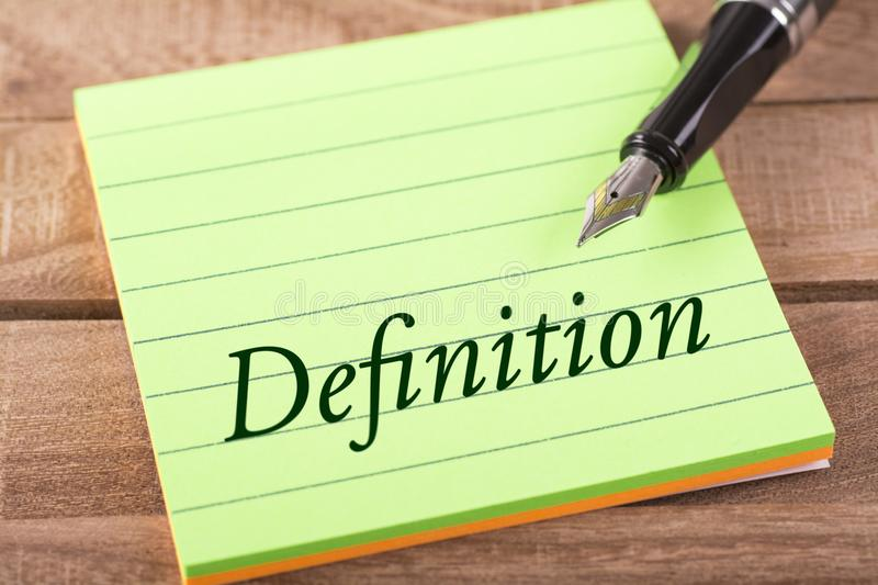 The word definition stock photos