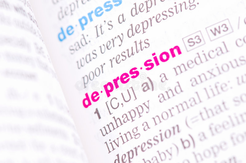 Superior Download Word Depression Stock Image. Image Of Spelling, Definition    9200339