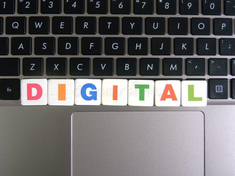 Word Digital sur le fond de clavier photo libre de droits