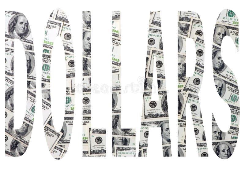 Word dollars vector illustratie