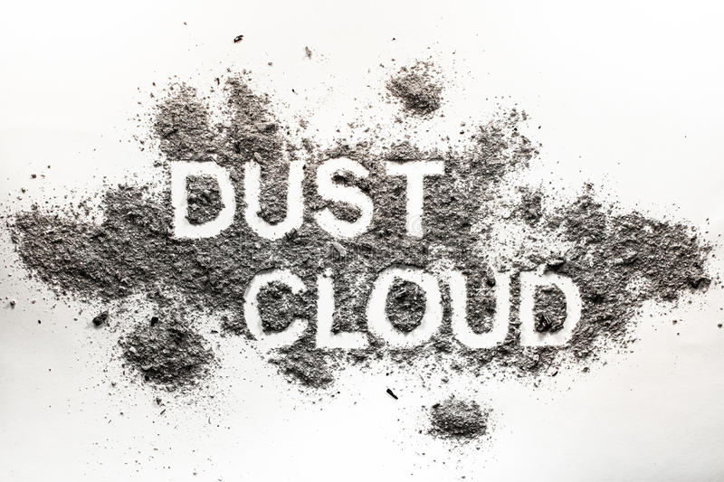 Download Word Dust Cloud Written In Accumulated Dust, Filth, Dirt, Ash, S Stock Image - Image of dirt, filthy: 87818103