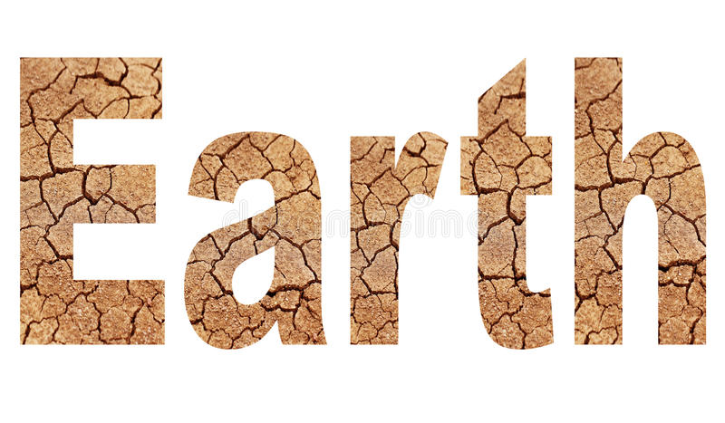 Word earth stock illustration