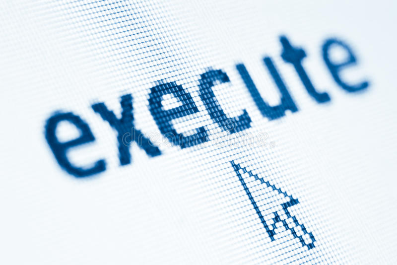 Word execute stock images