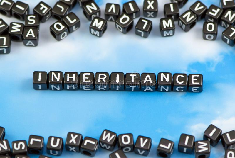 The word face inheritance. On the sky background royalty free stock photos