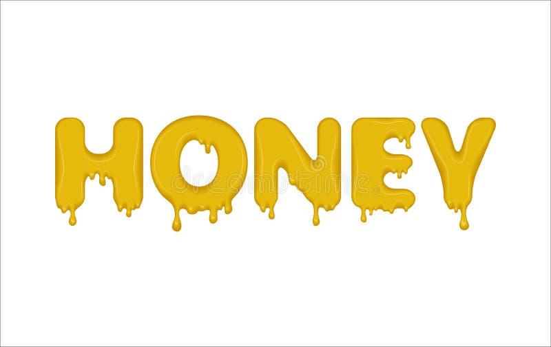 Word a fait du miel illustration stock