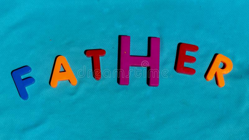 The word Father composed from letters royalty free stock photos