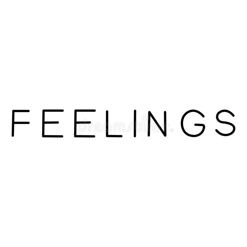 Words of positive feelings stock illustration. Illustration of affair -  4567046