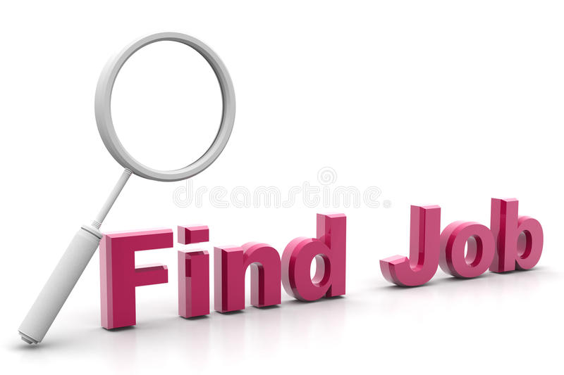 Word find job and lance stock illustration