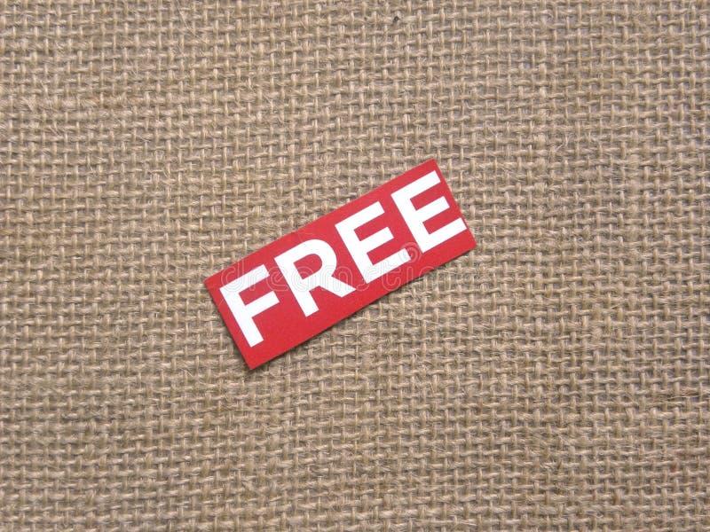 Word Free su Burlap fotografie stock