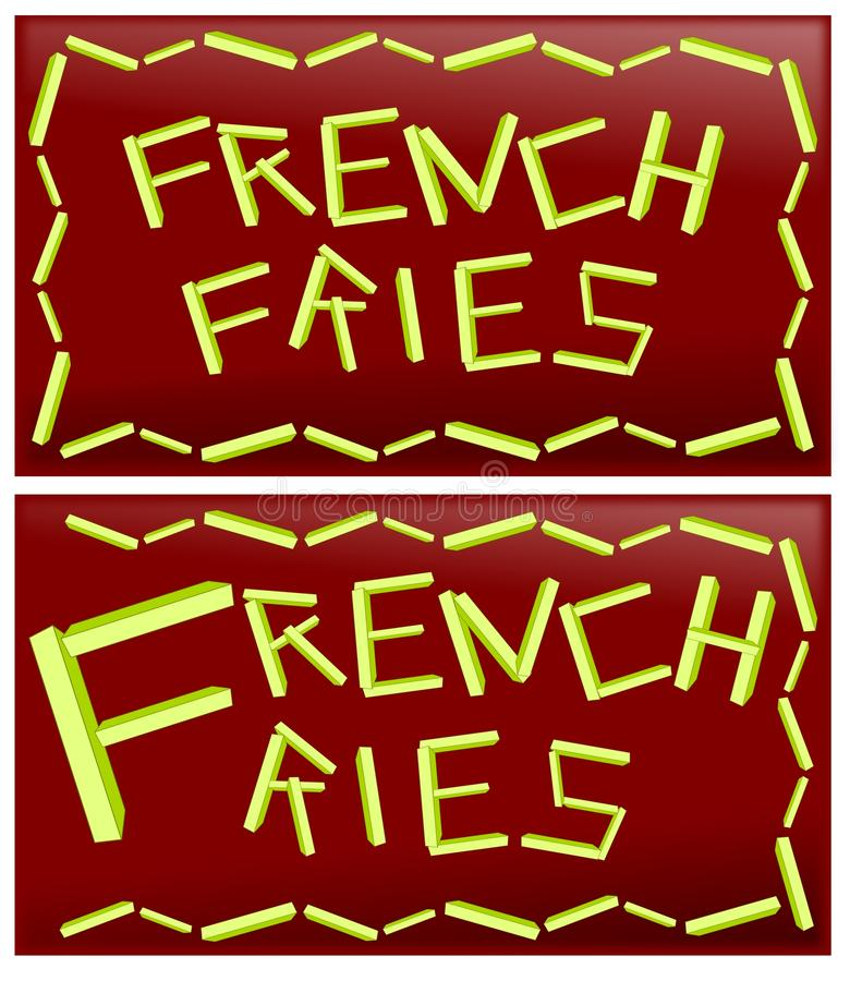 Word french fries royalty free illustration