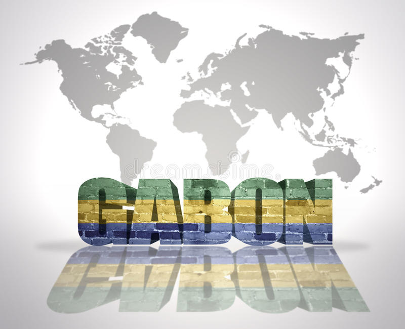 Word Gabon On A World Map Background Stock Illustration Image - Where is gabon on the world map