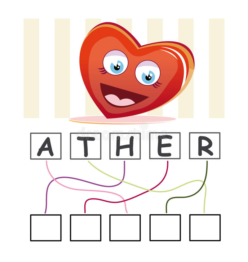 Word game with heart royalty free illustration