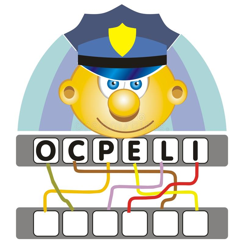 Word game with the police