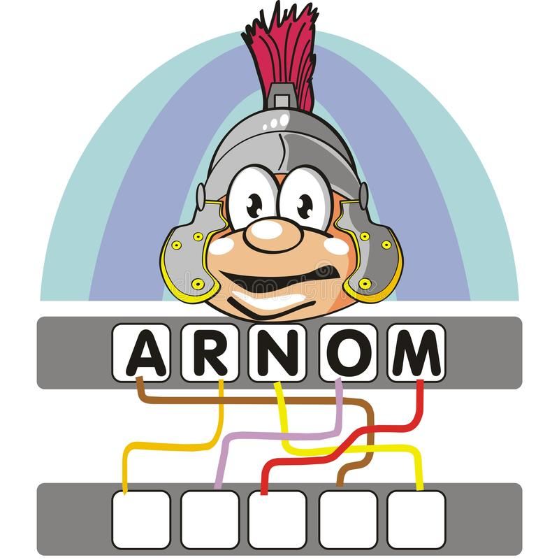 Download Word Game With The Roman Soldier Stock Vector - Image: 26108978