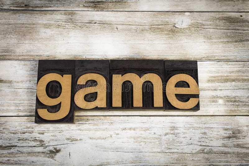 Game Letterpress Word on Wooden Background royalty free stock photos