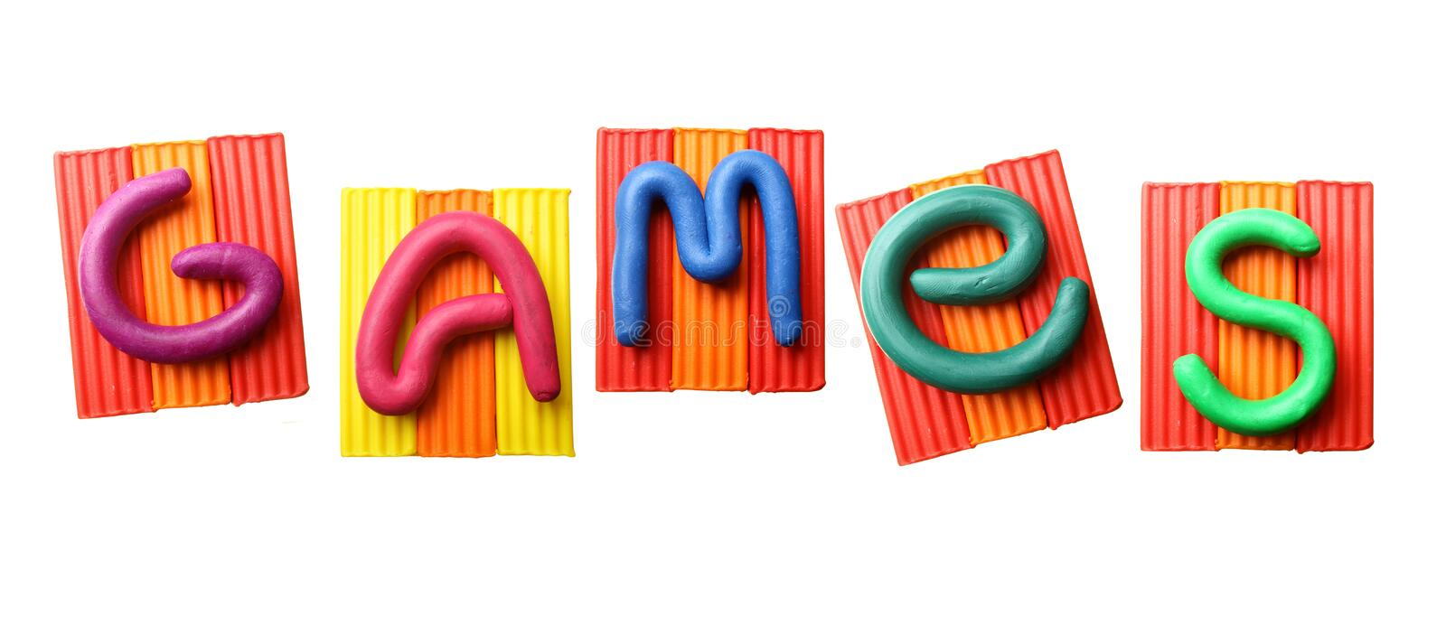 Word GAMES royalty free stock photography