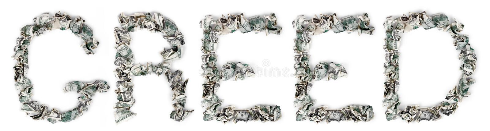 Download Greed - Crimped 100$ Bills stock photo. Image of background - 29821608