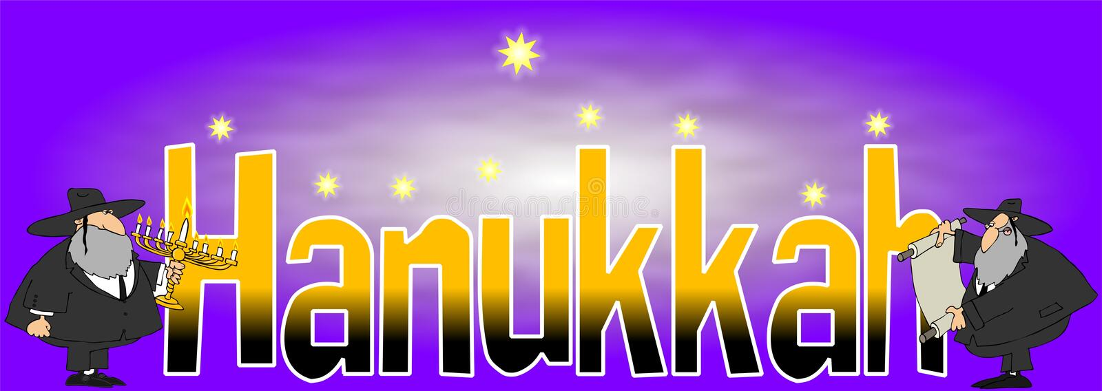 The word Hanukkah vector illustration