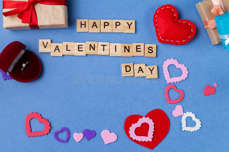Word happy Valentine day. Valentine gift card background. Word happy Valentine day, Valentine gift card background royalty free stock photography