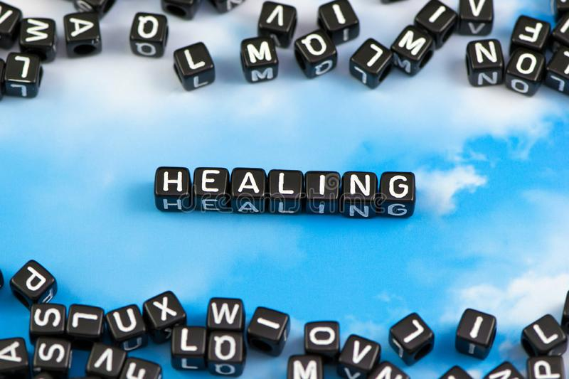 The word healing royalty free stock photography
