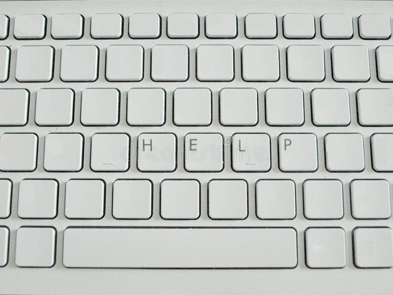 Word Help On Blank Keyboard Stock Photography