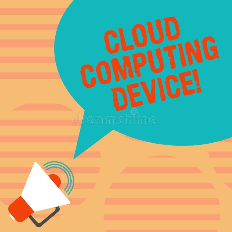 Word het schrijven het Apparaat van tekstcloud computing Bedrijfsconcept voor Gedeelde pools van de configureerbare Megafoon van  stock illustratie