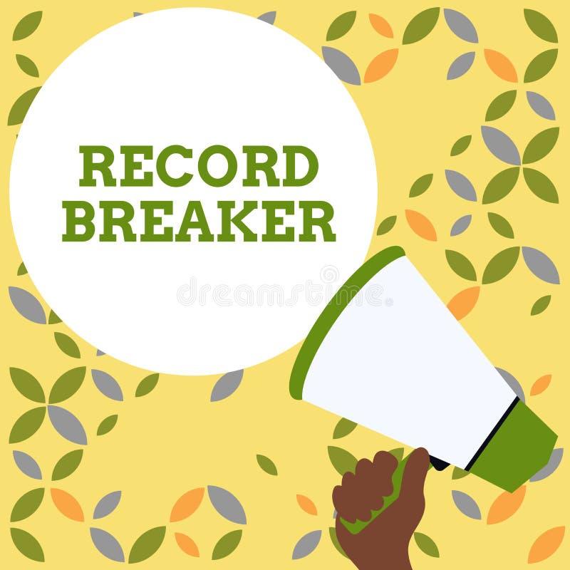 Word het schrijven de Breker van het tekstverslag Bedrijfsconcept voor iemand of iets wie de vorige beste Holding van de resultaa royalty-vrije illustratie
