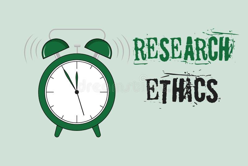 Word het schrijven de Ethiek van het tekstonderzoek Bedrijfsconcept voor geinteresseerd in de analyse van ethische kwesties die o royalty-vrije illustratie